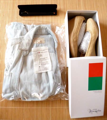 DVFの服、シューズ、K10ネックレス
