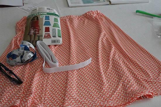 スカートの縫製